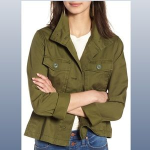 MADEWELL olive green crop anorak Jacket size med